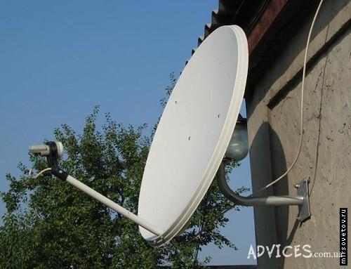 Подключенная спутниковая антенна